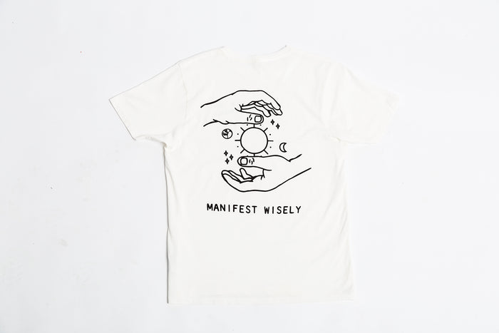 Manifest Wisely T-Shirt (White)