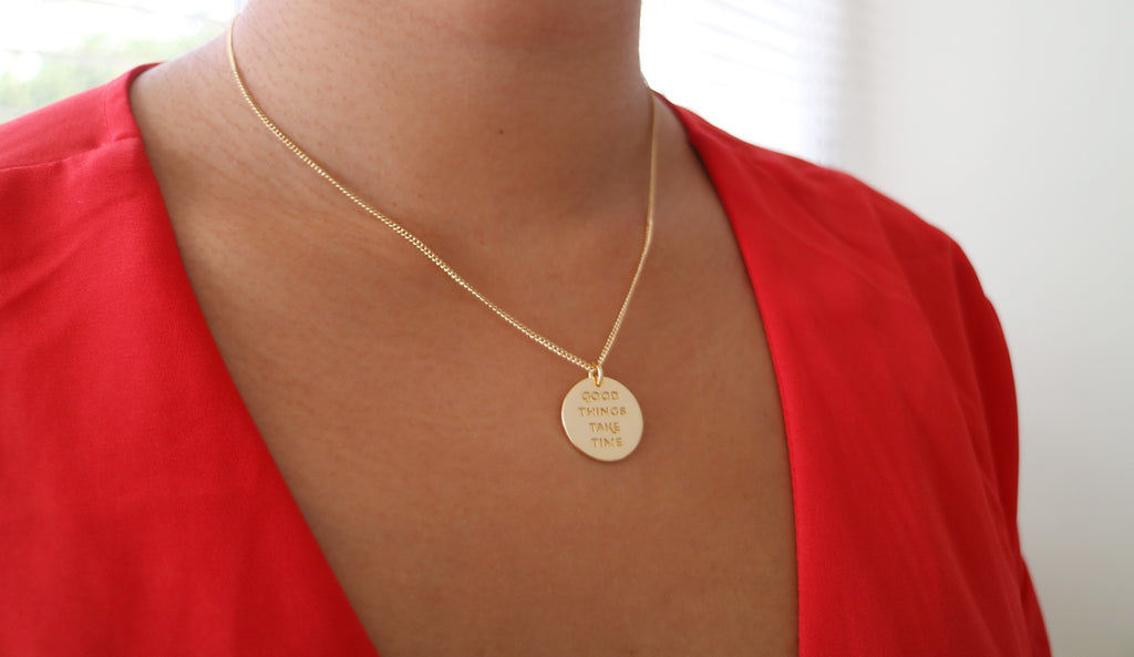 Good Things Take Time Necklace