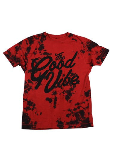 The Good Vibe Red Tie-dye T-Shirt