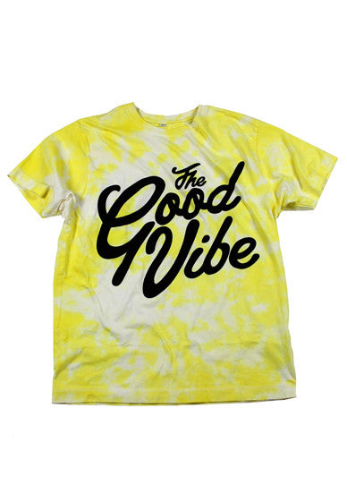 The Good Vibe Yellow Tie-dye T-Shirt