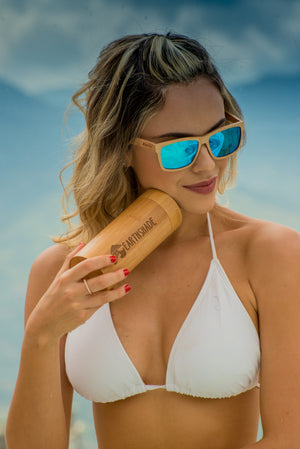 Womens and Mens Wooden Sunglasses