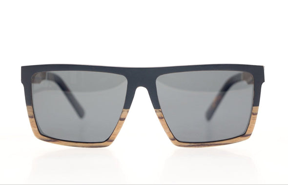 Ebony Layered Wood Sunglasses For Men - Boss