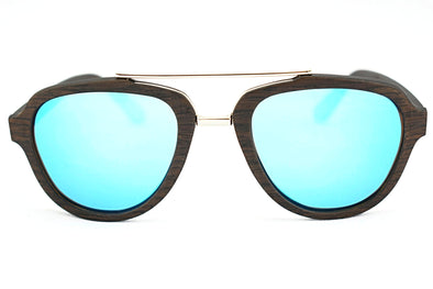 Black Oak  Wood Aviator Sunglasses - Ascendor
