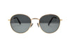Round Gold Frame Wire Sunglasses - Bermuda