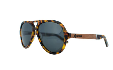Tortoise Shell Aviator With Wood - Modena