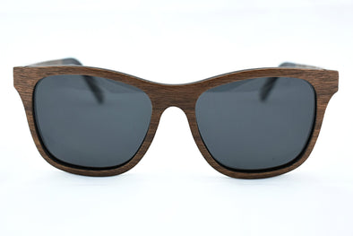 Walnut Wood Sunglasses With Acetate - Fawn