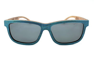 Bahama Blue Walnut Unisex Sunglasses