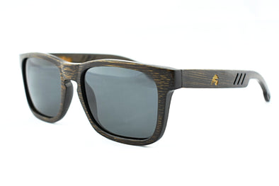 Solid Bamboo Polarized Sunglasses - Highlander