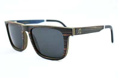 Ebony Wood Sunglasses With Acetate Tip - Weston