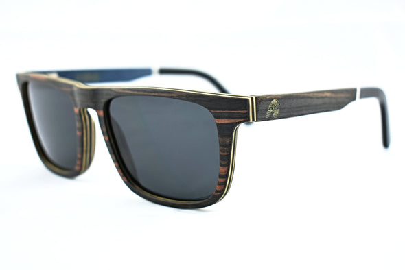 Ebony Wood Sunglasses With Acetate Tip  For Men And Women