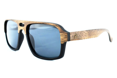 Capri - Walnut Wood Aviator Sunglasses