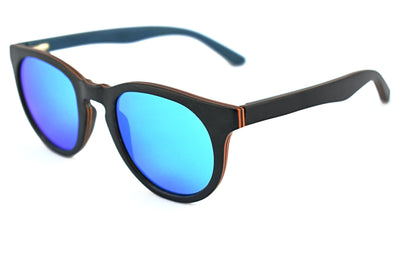 Black Maple Sunglasses Ice Blue Lens - Sari