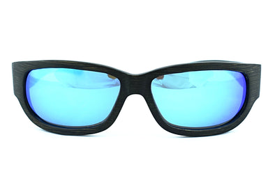 SportsWood - Black Bamboo Wrap Around Sunglasses