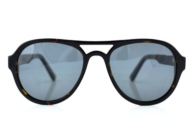 Acetate & Wood Aviator Sunglasses - Falcon