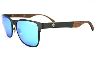 Titanium Gunmetal Grey Walnut Sunglasses - Elements