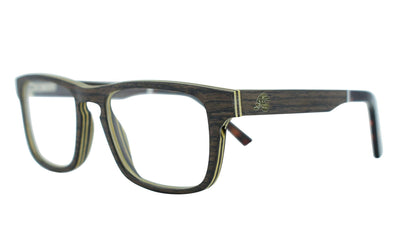 Black Oak Layered Wood RX Frames - Java