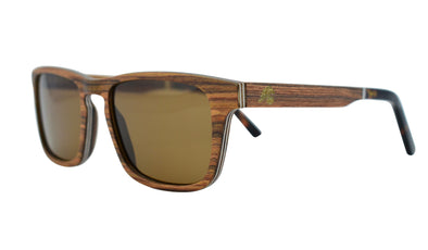 Layered Rosewood Classic Style Sunglasses - Vintage