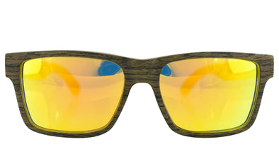 Black Oak Layered Wood Sunglasses - Nomad