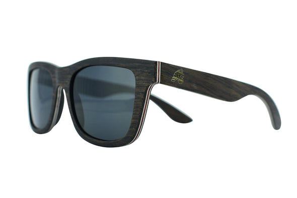 Large Black Oak Wood Sunglasses For Men