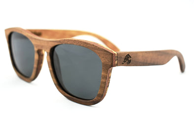 Natural Walnut Wood Sunglasses - Retro
