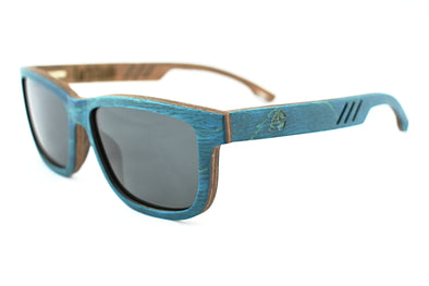 Bahama Blue Walnut Wood Unisex Sunglasses