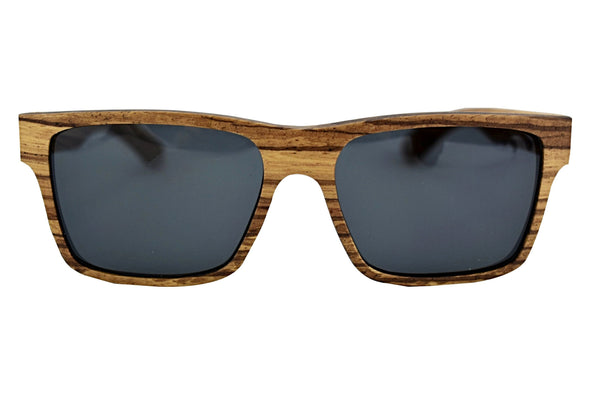 Zebra Wood Polarized Sunglasses For Men