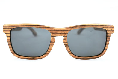 Zebra Wood Polarized  Sunglasses - Highlander