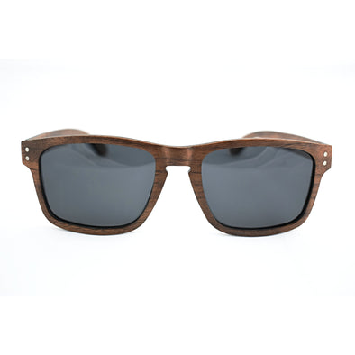 Walnut Wood Classic Frame Sunglasses - Alta