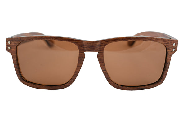 Classic Red Rosewood Sunglasses For Men And Women