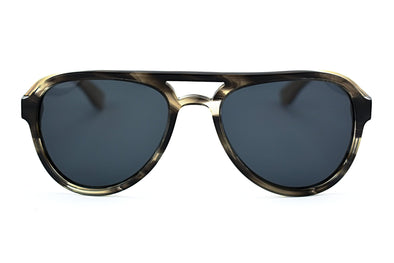 Acetate + Wood Aviator Sunglasses - Altitude