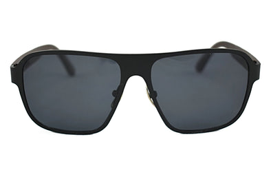 Black Titanium Ebony Wood Aviator Sunglasses - Raptor