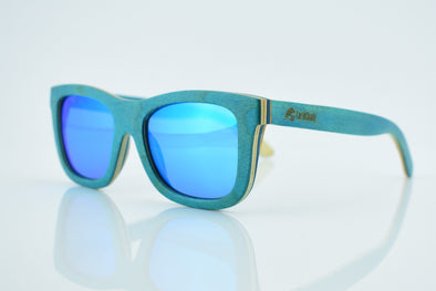 Tropical Blue Wood Sunglasses - Caribe