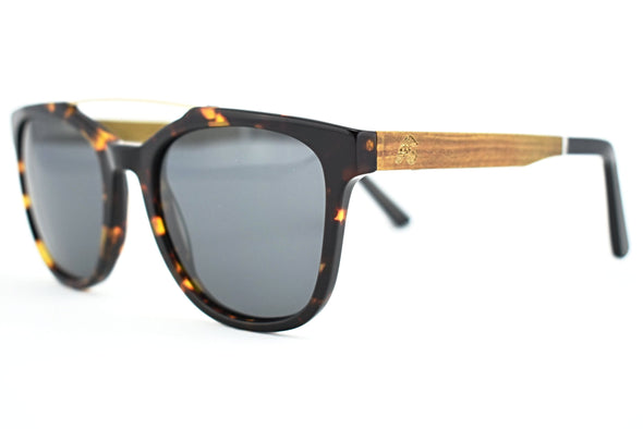 Wood & Acetate Tortoise Shell - Claire