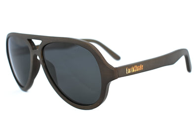 Ebony Bamboo Aviator Sunglassess - Clark