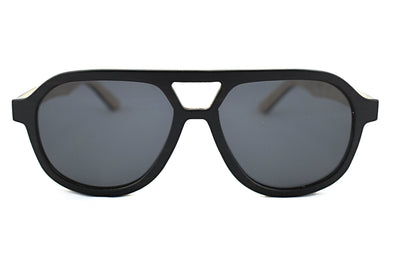 Layered Wood Aviator Sunglasses - Glider