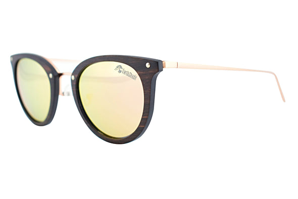 Cat Eye Wood Sunglasses For Women