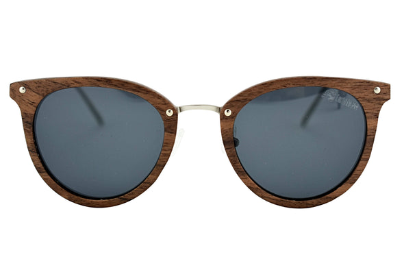 Cat Eye Walnut Wood Sunglasses For Women