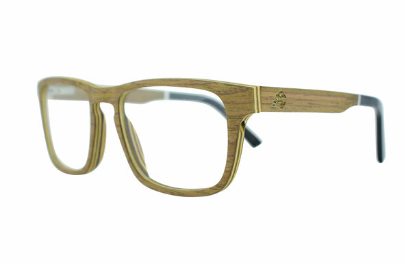 Layered Walnut Wood Sunglasses For RX Prescription