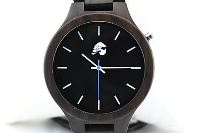 Handcrafted Men's Walnut Wood Watch - Midnight