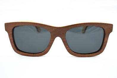 Brown Maple SkateboardWood  Sunglasses - Oliie