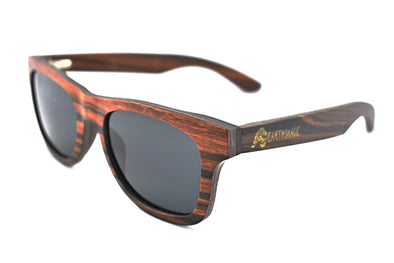 Classic - Red Zebra Wood Sunglasses