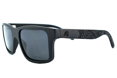 Ebony Wood Sunglasses With Tribal Design - Renegade