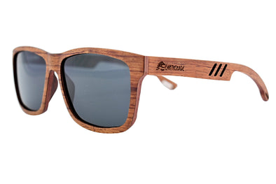 Red Rosewood Polarized Wooden Sunglasses - Terra