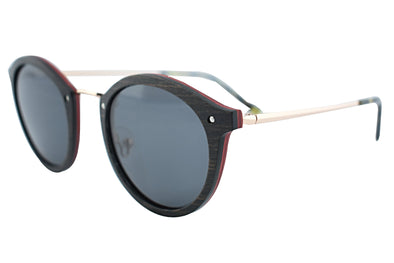 Metal And Wood Sunglasses For Wome