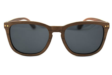 Natural Walnut Wood Sunglasses - Sierra