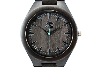 Handcrafted Men's Sandalwood Watch - Wolf