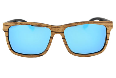 Zebra Wood Polarized  Sunglasses - Terra