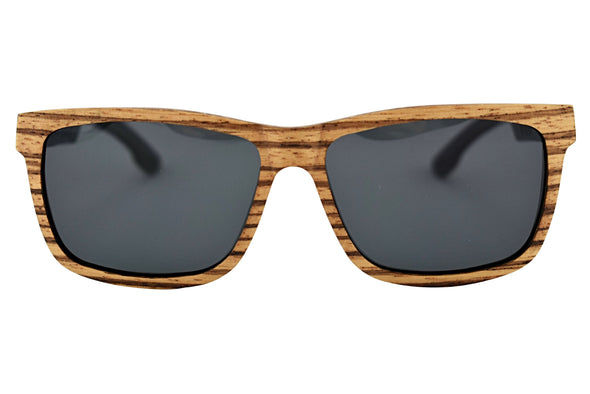 Zebra Wood Polarized Sunglasses For Men & Women