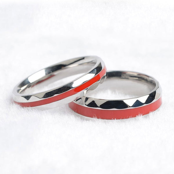 316L Stainless Steel Firefighter Thin Red Line Rings For Men & Women-NeatFind.net