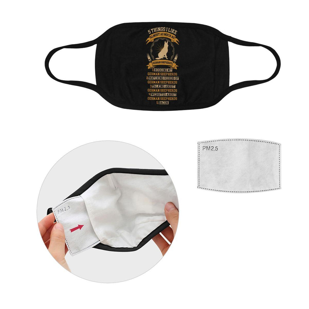 5 Things I Like Almost As Much As German Shepherds Washable Reusable Face Mask-Face Mask-S-Black-NeatFind.net